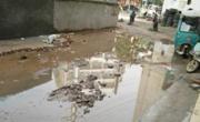 武穴市刘家巷居民区道路一到雨天就积水