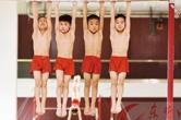 黄石体操小将备战省运会
