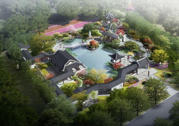 园博园黄冈园已完成工程总量的50%