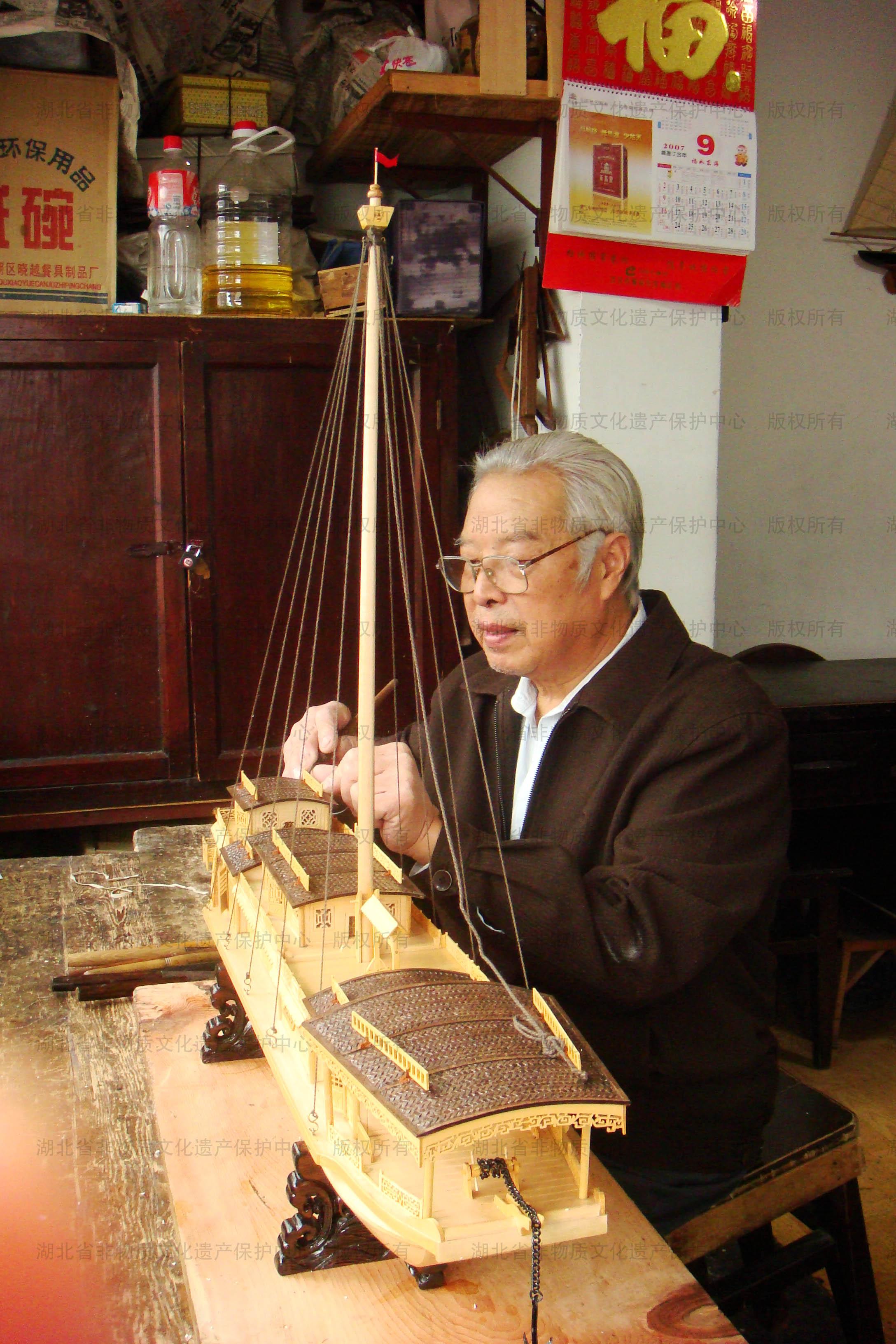 武汉木雕船模按比例模拟制作各类木船