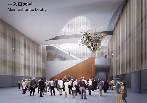 图:西九故宫主入口大堂概念设计图