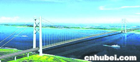 阳 逻 长 江 大 桥 选 定 竖 琴 式   大江如弓桥似琴 江...