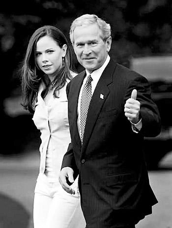 布什与女儿芭芭拉