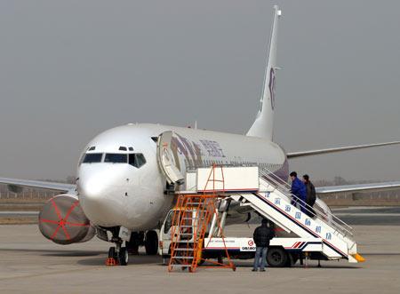 首架航班是从天津经停长沙后飞往昆明的