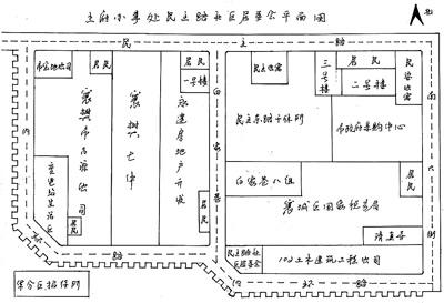 一张手绘社区地图