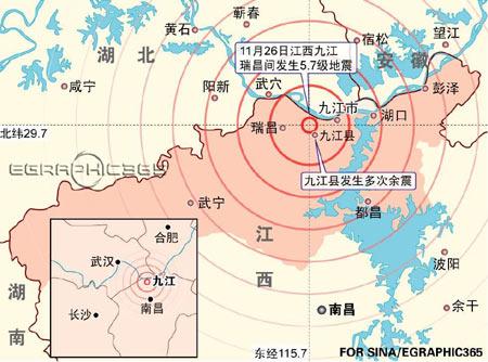 图文:江西九江地震示意图(图)