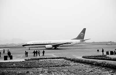 恩施机场起降波音飞机(图)