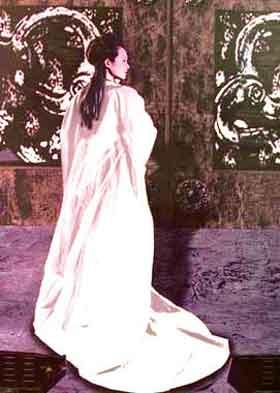 手绘古装美女图片背影