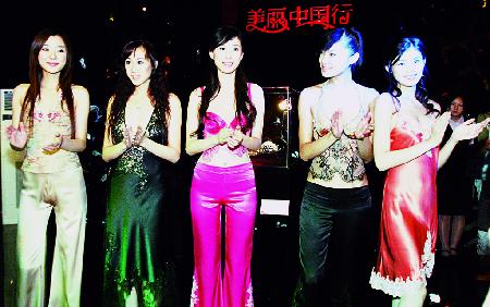 中国首批职业内衣模特亮相江城(图)情趣内衣女骚图片