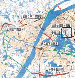 武汉六大道路工程昨日通车