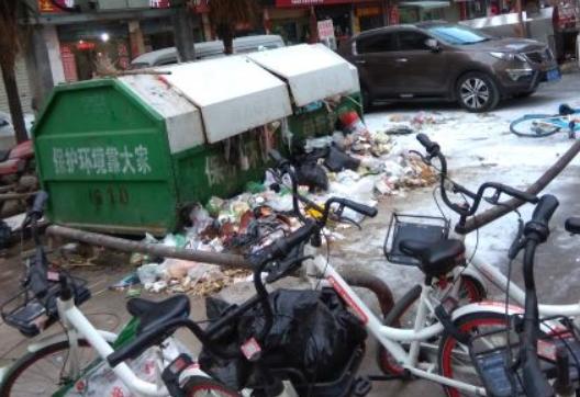荆门名泉小区垃圾满溢,臭气熏天