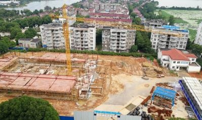 蔡甸经济开发区实验学校新建工程停工