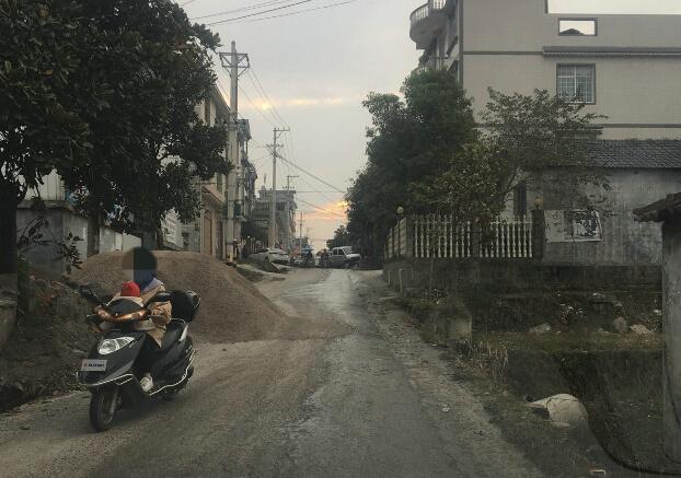 来凤县翔凤镇一砖场占用公路堆沙