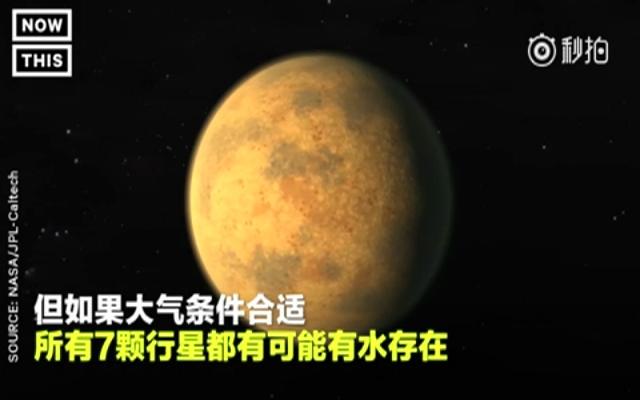 NASA发现太阳系外7颗类地行星