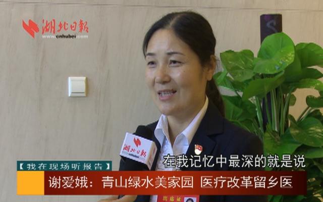 【我在现场听报告】谢爱娥:青山绿水美家园 医疗改革留乡医