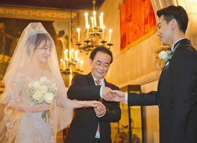 陈紫函戴向宇古堡大婚