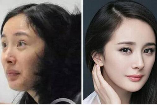 女星化妆素颜对比