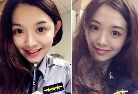 台湾美女法警走红