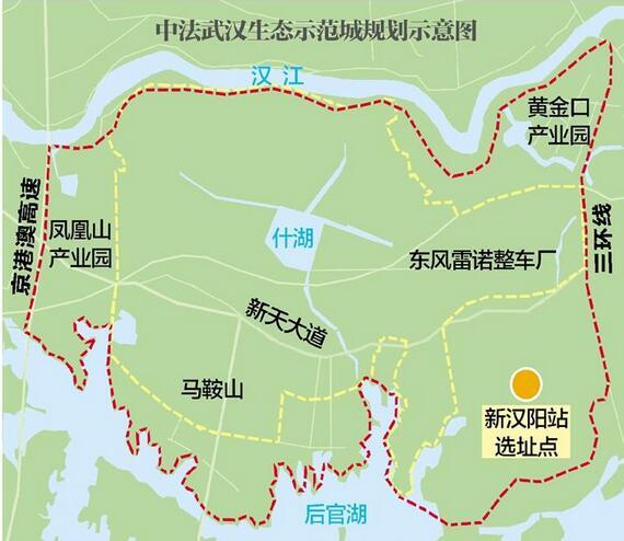中法武汉生态示范城规划获批 国内首个密路网小街区
