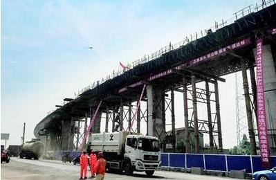 地铁阳逻线高架段贯通 通车后将成武汉最快地铁