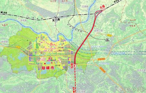 汉宜铁路仙桃支线9月开工 湖北第五条城铁2019年通车