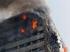 伊朗一高层商厦起火倒塌