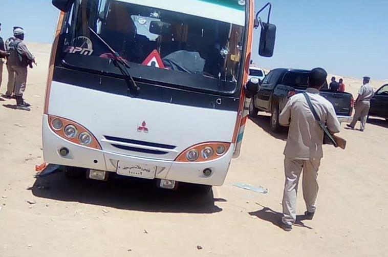 埃及公交车遭枪击