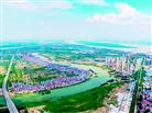 航拍武汉长江新城