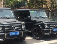 """""""双胞胎""""豪车现上海街头"""