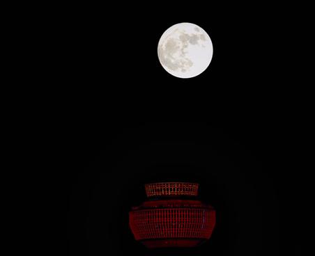 昨晚的超级月亮你看了吗?