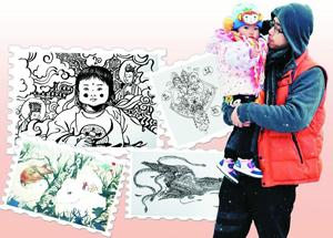 留下童年!武汉老爸每天为女儿创作一幅画