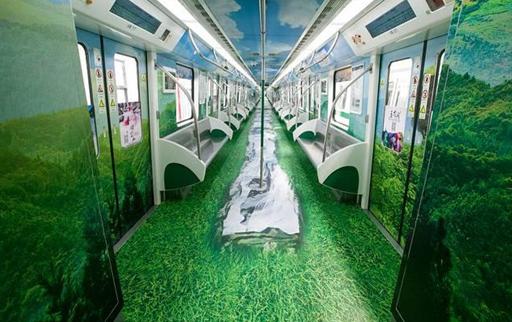 美cry!武汉地铁6号线绿野仙境专列上线了