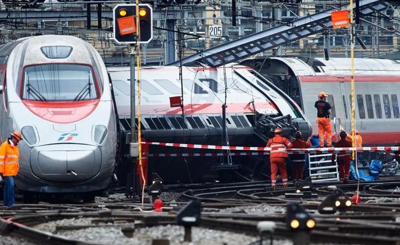 瑞士发生火车脱轨事故