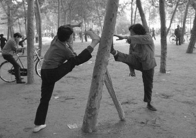 20年前晨练的武汉人
