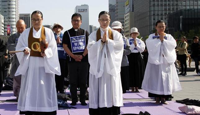 """韩国民众抗议""""萨德"""""""
