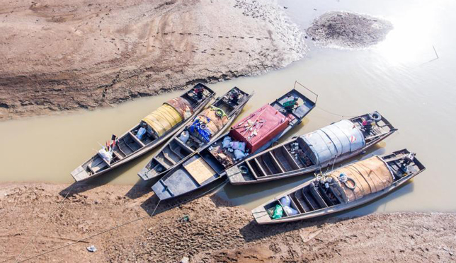 鄱阳湖今年枯水期推迟