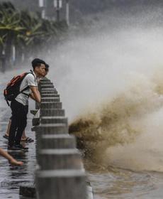 天鸽:14级台风什么样子?