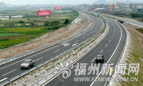 福州324国道高速连接线口东向违章