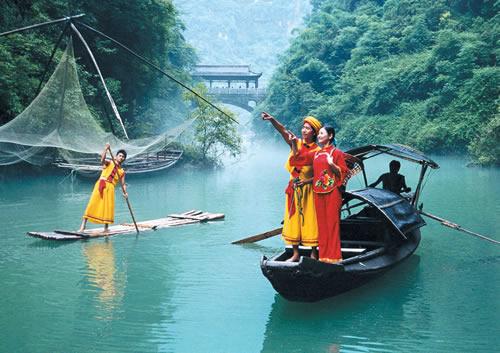 宜昌 夷陵区    三峡人家风景区位于长江三峡中最为