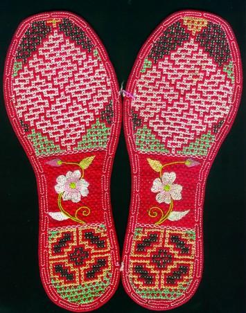 钩针鞋垫子图解步骤