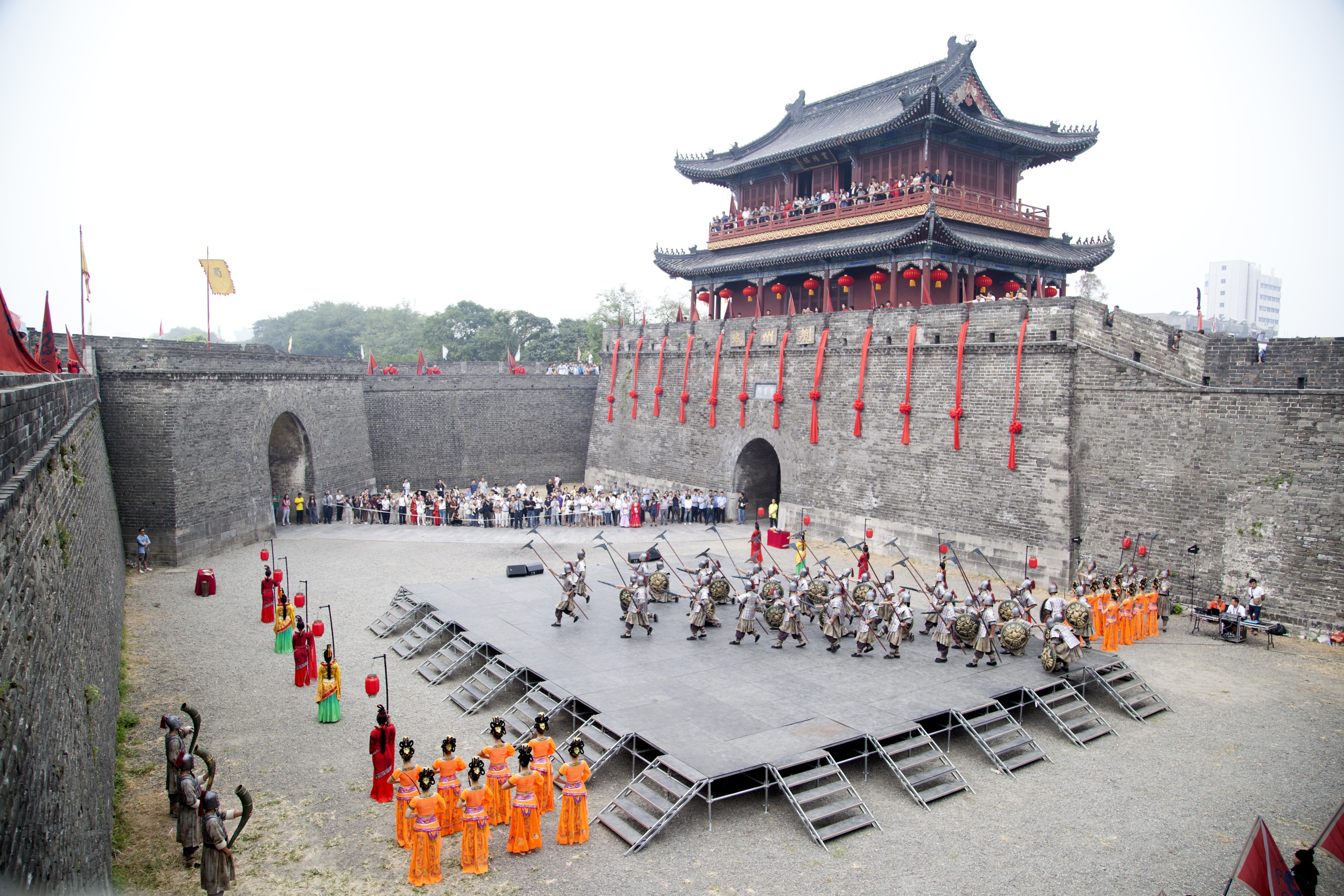 荆州古城入城仪式