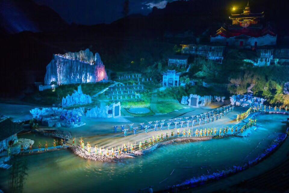 大型峡谷实景剧《龙船调》