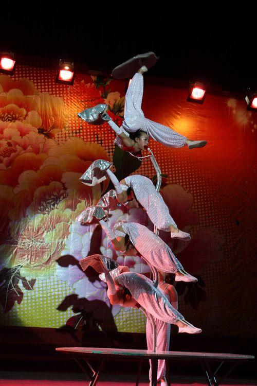 杂技表演节目《柔术》  摄影:朱向红图片