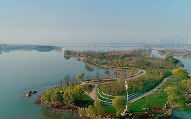 航拍东湖绿道